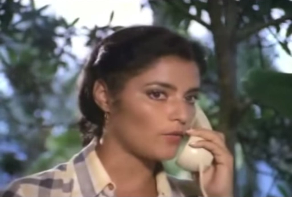 Símbolo sexual dos anos 80, Angelina teve uma breve carreira no cinema, mas participou de comédias eróticas notáveis, como 'O Inseto do Amor' (19780, de Fauzi Mansur, 'O Sol dos Amantes' (1979), de Geraldo Santos Pereira e 'Amante Latino' (1979), de Pedro Carlos Rovai. Posou nua três vezes para a Playboy e hoje pode ser vista na televisão, em séries e novelas. (Foto: Reprodução)
