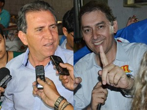 Alcides Bernal e Giroto se enfrentarão no 2º turno (Foto: G1 MS)