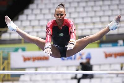 Rebeca Andrade na Copa do Mundo de São Paulo (Foto: Ricardo Bufolin/CBG)