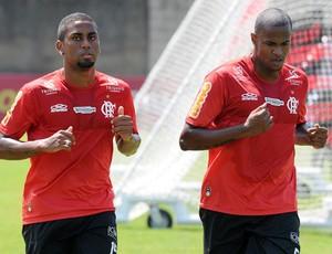 Muralha e Airton treino Flamengo (Foto: Alexandre Vidal / Fla imagem)