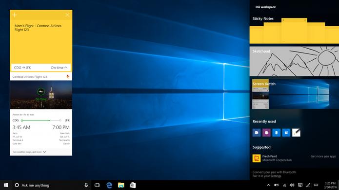 Windows 10 terá novas funcionalidades voltadas para PCs com canetas stylus (Foto: Reprodução/Elson de Souza)