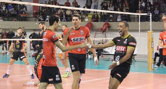 Serginho no jogo do Sesi-SP (Foto: Divulgação/Sesi-SP)