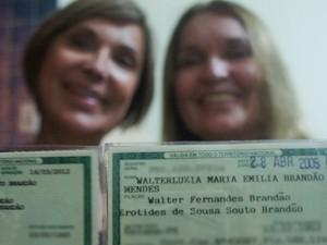 Mulheres têm nome feminino agregado ao Walter (Foto: Krystine Carneiro/G1)