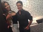 Thammy e namorada fazem selfie antes da balada: 'Nós e mais nada'
