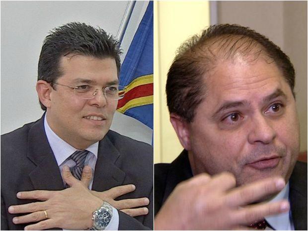 Montagem mostra Gilmar Olarte e Mario Cesar (Foto: Reprodução/TV Morena)