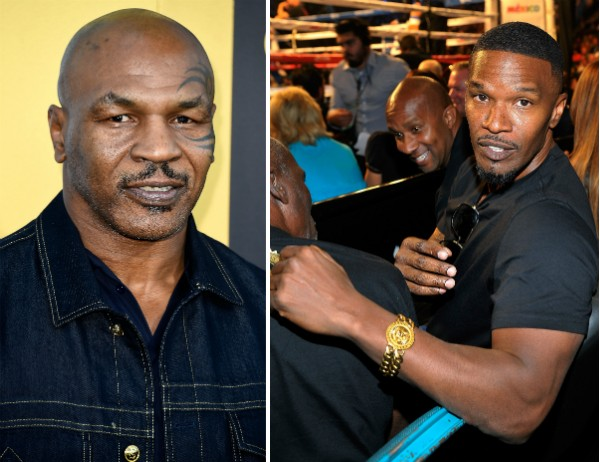 Mike Tyson e Jamie Foxx (Foto: Getty Images)