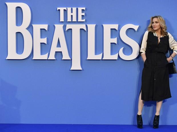 Madonna em première de filme em Londres, na Inglaterra (Foto: Ben Stansall/ AFP)
