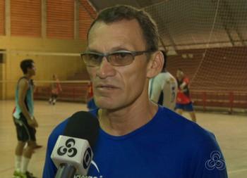 Alfredo Teles, técnico da seleção acreana de vôlei sub-20 (Foto: Reprodução/Rede Amazônica Acre)