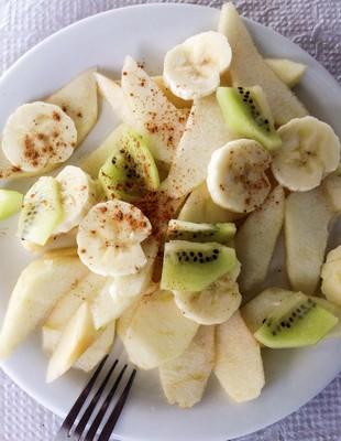 frutas banana maça e kiwi (Foto: Getty Images)