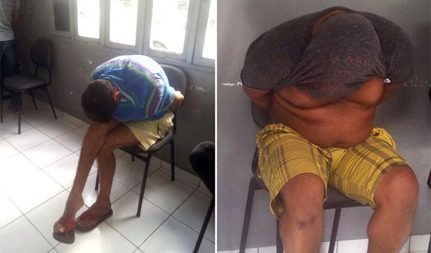 Suspeitos foram levados para a Delegacia de Plantão da zona Sul de Natal (Foto: Antonio Netto/Inter TV Cabugi)