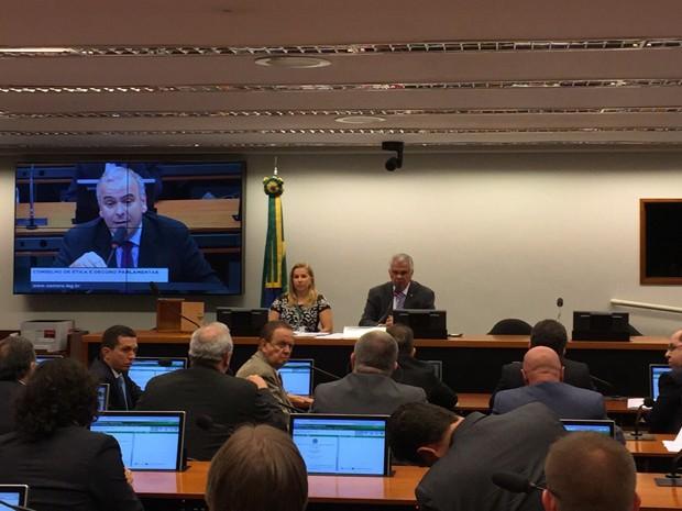 Conselho de Ética da Câmara se reúne para instaurar processo para investigar o presidente da Câmara, Eduardo Cunha (PMDB-RJ) (Foto: Nathalia Passarinho/G1)