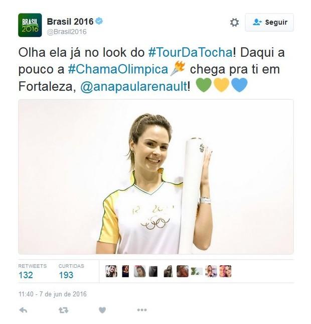 Ana Paula (Foto: Reprodução/Twitter)