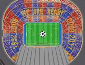 Mosaico Barcelona Camp Nou Bayern de Munique