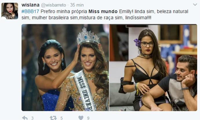 Emilly Miss Mundo (Foto: Reprodução/Internet)
