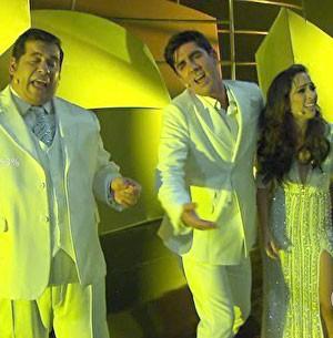 Tatá, Adnet e Hassum 'trollam' famosos da plateia (Vem aí/TV Globo)