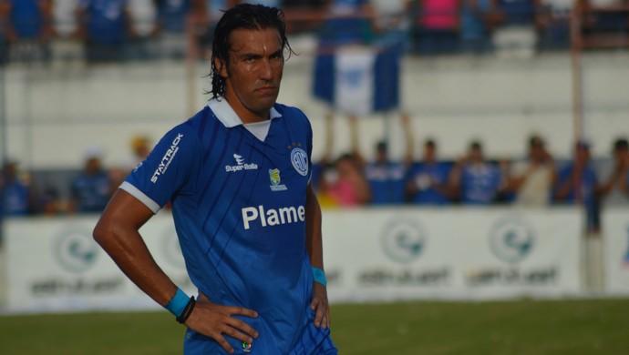 Leandro Kível, atacante do Confiança (Foto: Felipe Martins/GloboEsporte.com)