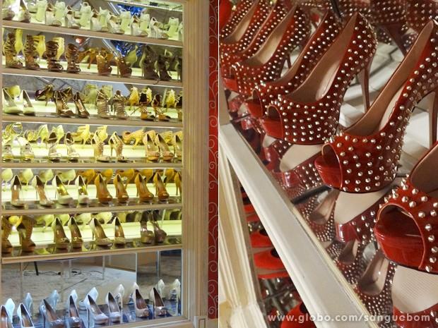 O closet da gata tem até modelos repetidos (Foto: Sangue Bom/TV Globo)
