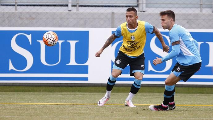 Everton, atacante, Grêmio, treino (Foto: Lucas Uebel/Grêmio/Divulgação)