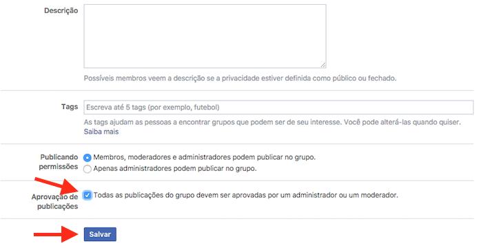 Ativando a moderação de publicações em uma página do Facebook (Foto: Reprodução/Marvin Costa)