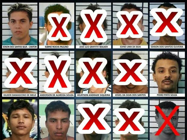 Dicap divulga lista dos foragidos (Foto: Divulgação/Dicap)