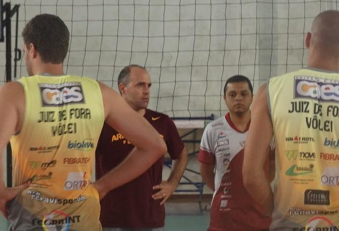 Maurício Bara e Alessandro Fadul Juiz de Fora (Foto: Bruno Ribeiro)