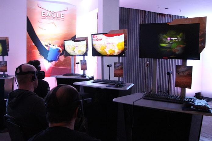 Partida de Eagle Flight durante o evento pré-E3 da Ubisoft (Foto: Reprodução/Tais Carvalho)