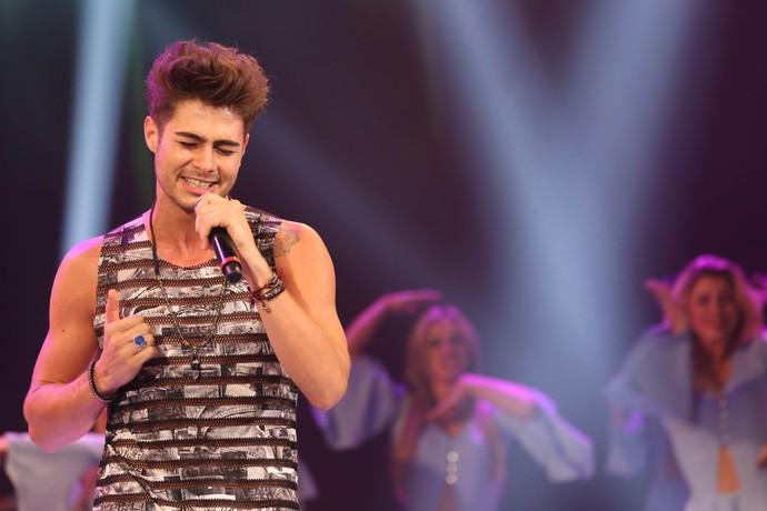 Como sempre, o ídolo da música pop arrasou! (Foto: Carol Caminha/Gshow)