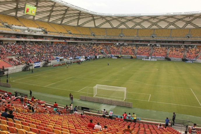 Arena da Amazônia final do Amazonense 2015 (Foto: Marcos Dantas)