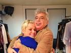 Lulu Santos posta foto abraçado com Xuxa em rede social