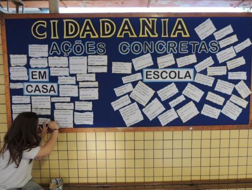 Durante o ano, as escolas desenvolvem as atividades baseadas no tema do projeto (Foto: Divulgação/RPCTV)