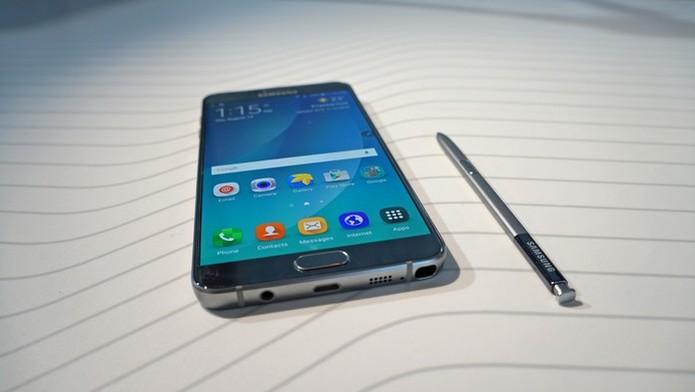 Galaxy Note 5 aparece em quarto lugar, com resultado melhor do que Note 4 (Foto: Thássius Veloso/TechTudo) (Foto: Galaxy Note 5 aparece em quarto lugar, com resultado melhor do que Note 4 (Foto: Thássius Veloso/TechTudo))