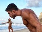 Gabriela Pugliesi posta montagem divertida com o namorado: 'Amor'
