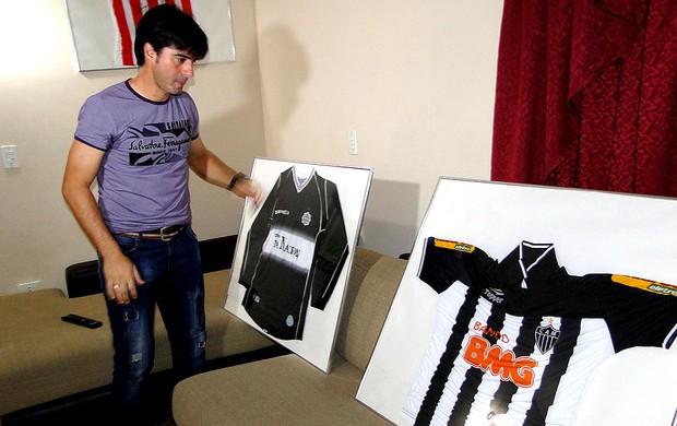 Caceres ex-jogador do Atlético-MG (Foto: Fernando Martins)