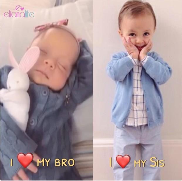 Manuela e Arthur, filhos de Eliana (Foto: Reprodução/Instagram)