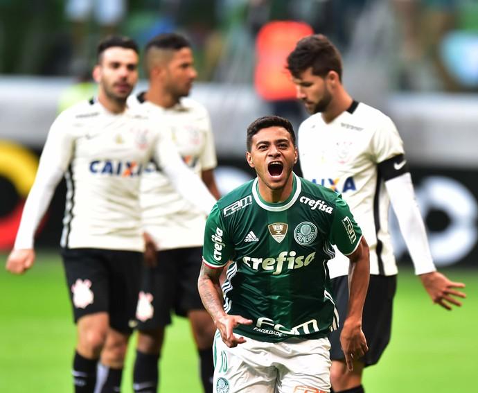 Cleiton Xavier comemora gol Palmeiras X Corinthians (Foto  Marcos Ribolli) 23b844fe44d00