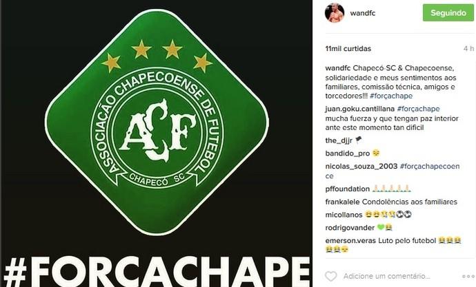 Wanderlei Silva Chapecoense (Foto: reprodução/Instagram)