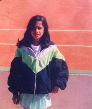 Teliana Pereira infância tênis (Foto: Reprodução/Facebook)