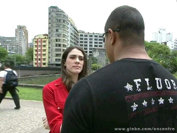 Motorista filmou tentativa de roubo (Foto: Encontro com Fátima Bernardes/TV Globo)
