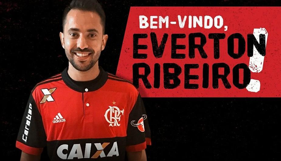 Flamengo anuncia Éverton Ribeiro; apresentação será nesta terça, na Gávea