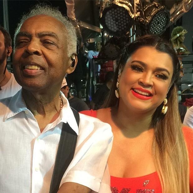 Gilberto Gil e sua filha, Preta Gil (Foto: Reprodução/Facebook)