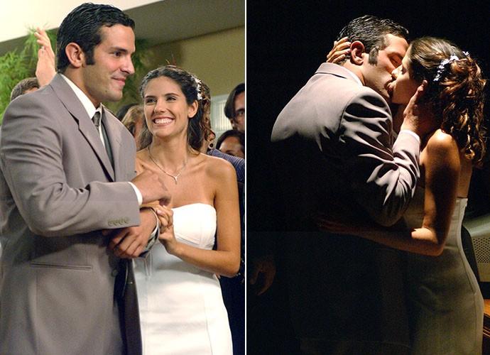 Em 2001, Gui e Nanda subiram ao altar em Malhação (Foto: TV Globo)