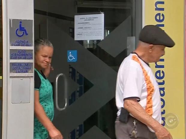 Ataques em bancos de Pilar do Sul preocupa Associação Comercial (Foto: Reprodução/TV TEM)