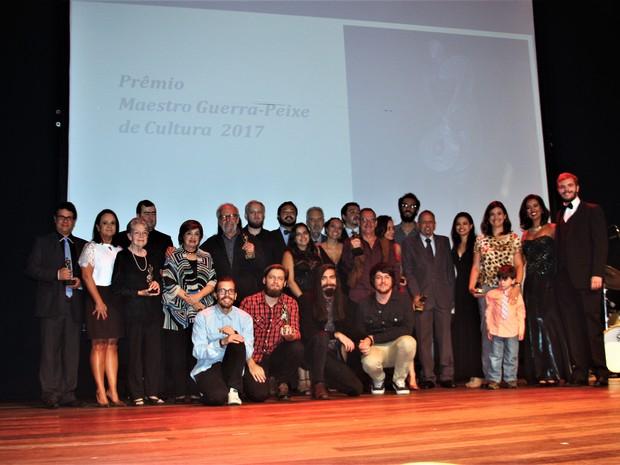 Solenidade premiou pessoas de diversas áreas da cultura em Petrópolis (Foto: Divulgação | Fundação de Cultura de Petrópolis)