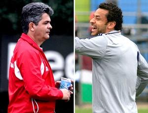 montagem Ney Franco e Fred São Paulo x Fluminense (Foto: Editoria de Arte / Globoesporte.com)