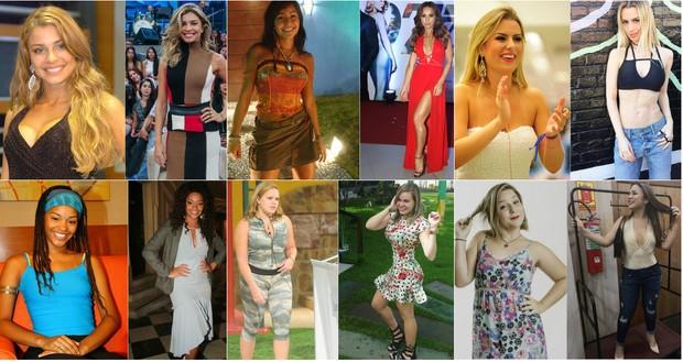 Ex-BBBs que mudaram radicalmente de visual e inspiraram o público (Foto: TV Globo/Divulgação/Instagram)