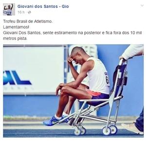 Giovani dos Santos sofre estiramento e está fora da Olimpíada do Rio (Foto: Reprodução Facebook)