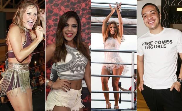 Claudia Leitte / Tays Reis / Ivete Sangalo / Wesley Safadão  (Foto: AgNews / BrazilNews / Roberto Teixera EGO / Iwi Inodera EGO)