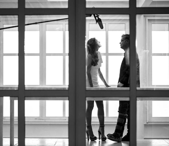 Antes da gravação, os atores conversaram com o Gshow sobre a história de Arliza (Foto: Fabiano Battaglin/Gshow)