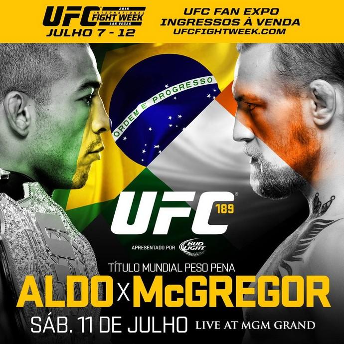 Pôster do UFC 189 José Aldo Conor McGregor (Foto: Divulgação)