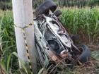 Carro invade contramão e provoca acidente com um morto e dois feridos